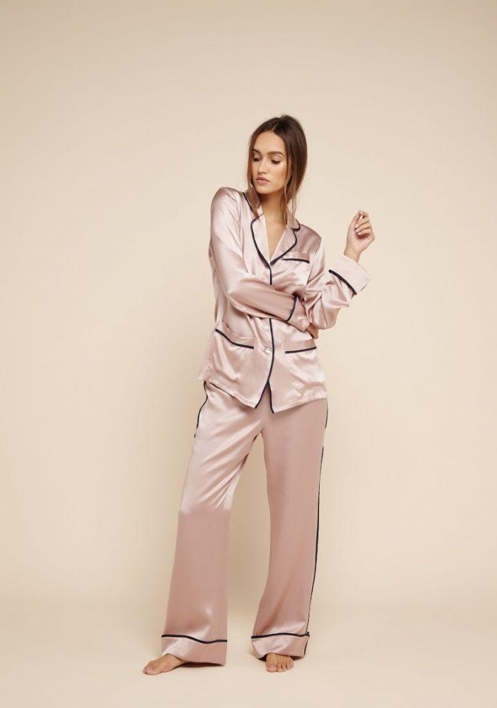 silk pyjamas by olivia von halle the everyday luxury. Black Bedroom Furniture Sets. Home Design Ideas