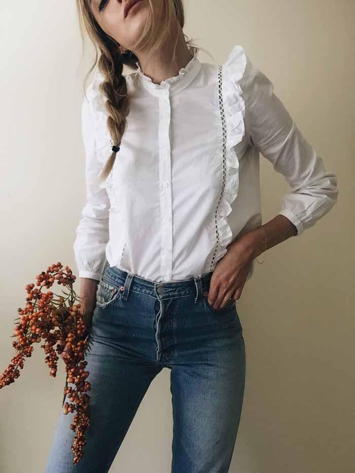 white-bouse-fashion-Ruffles-trends